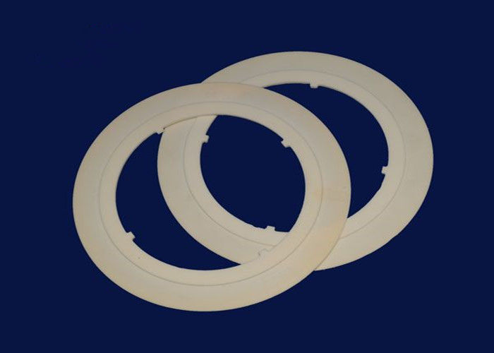 99% Alumina Ceramic Parts Rings , Round Ceramic Heater Ceramic Ring Heater